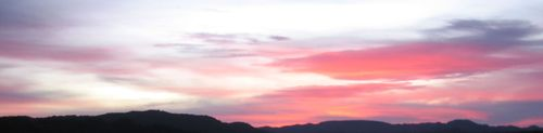 Sunset panorama 1