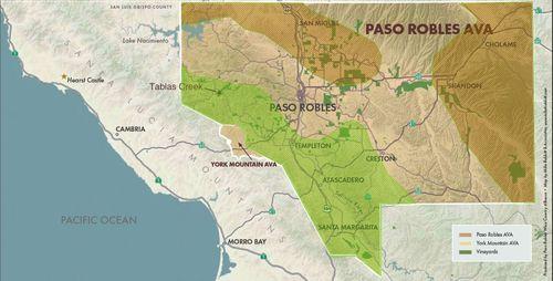 Paso Robles rainfall gradient