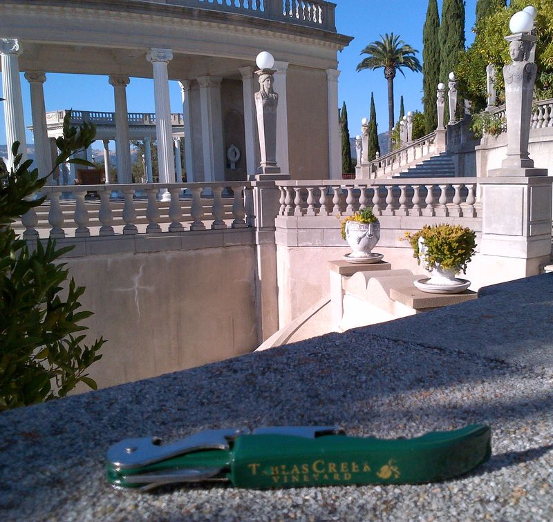 TCV corkscrew at Hearst Castle