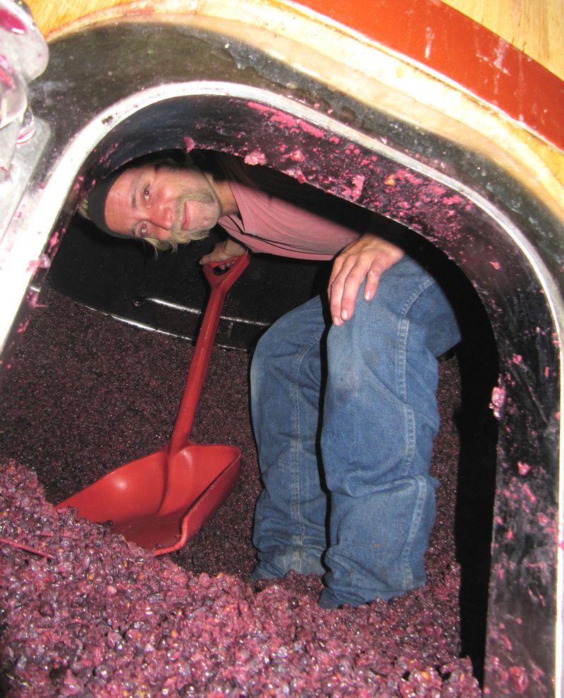 Wade shoveling