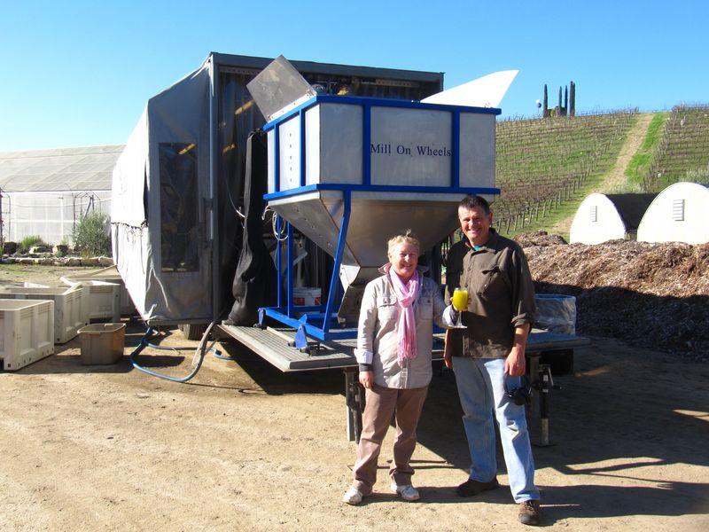Olive mobile press yves and clotilde julien