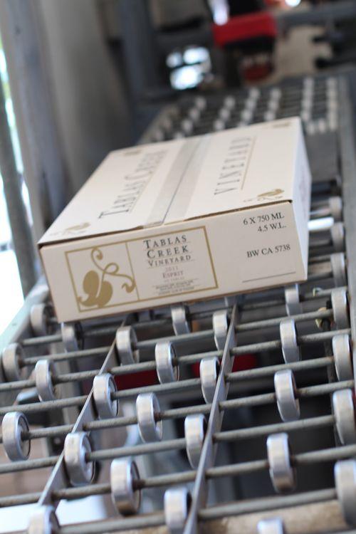 Case of 2011 Esprit rolling off bottling line