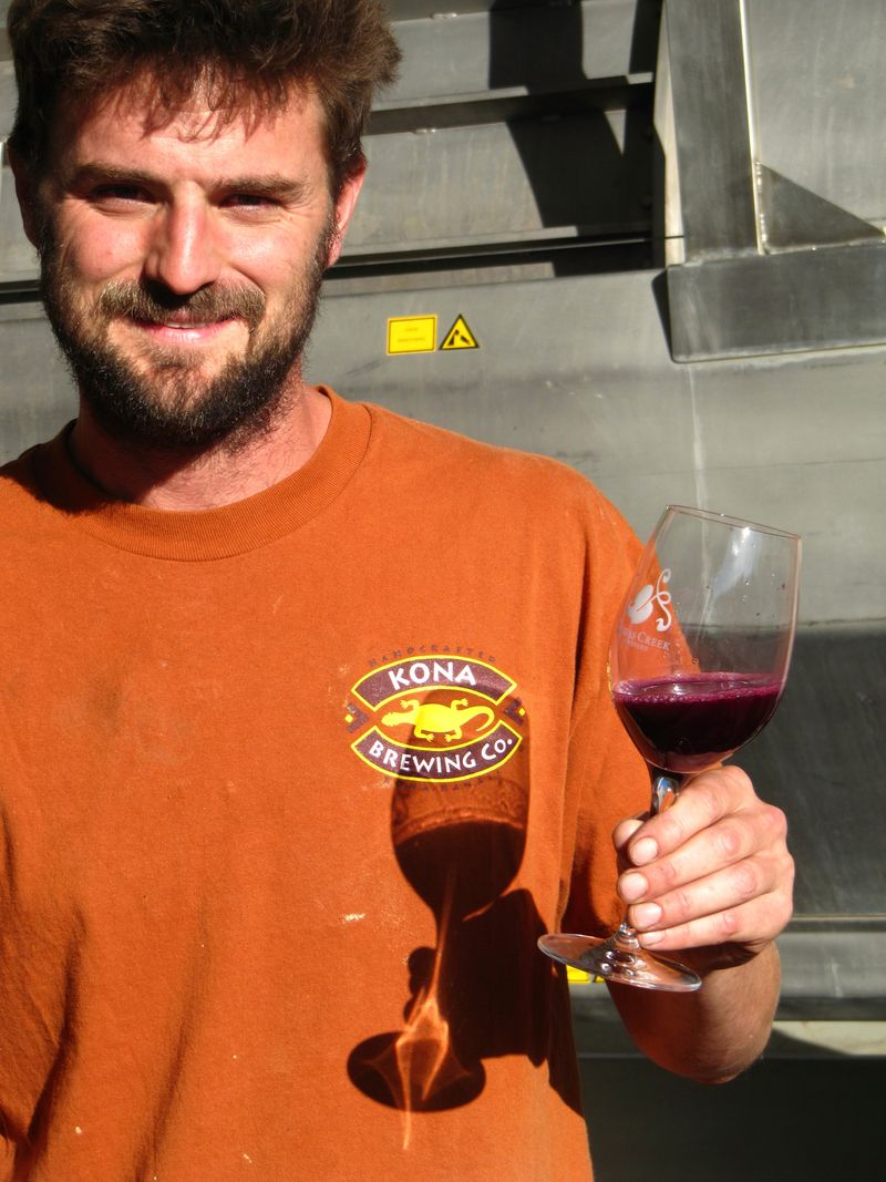 Tyler with electric Syrah