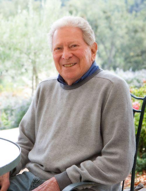 Robert Haas Seated on Patio