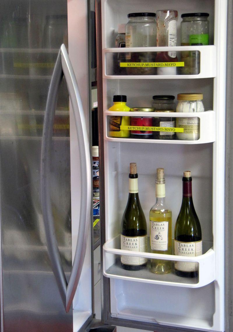 Wine in fridge