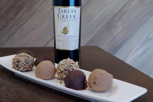Bottle & truffle Horz