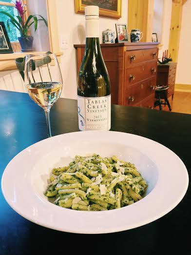 Vermentino and Pasta