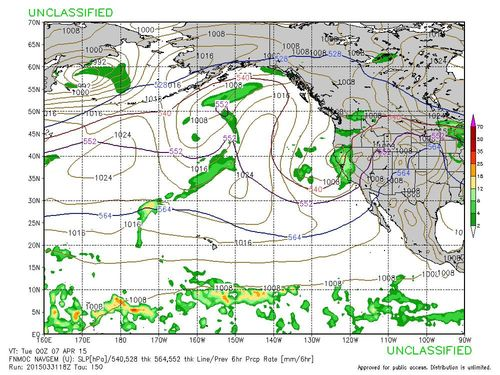April 2015 rain forecast