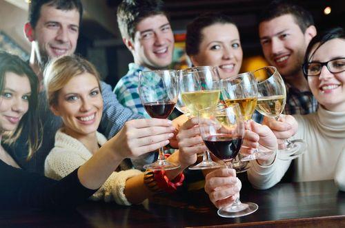 Wine Group Tasting Stock Photo