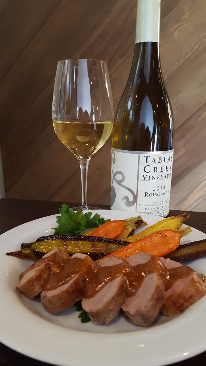 Roussanne and plate