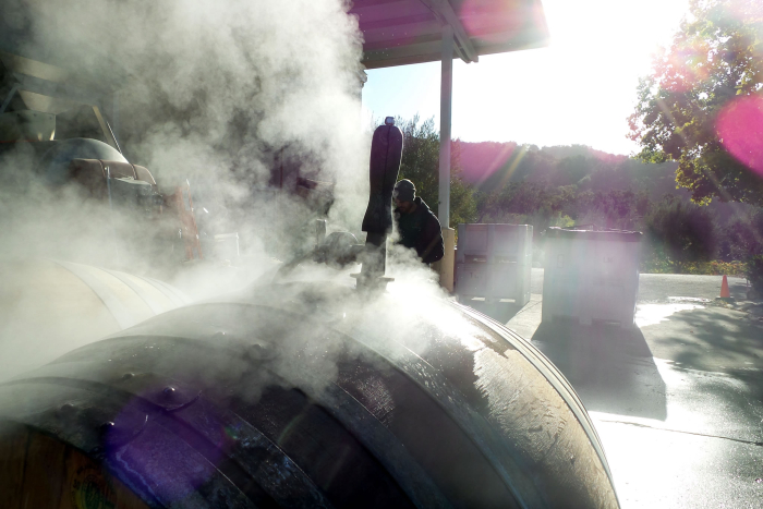 Steam Cleaning Barrels