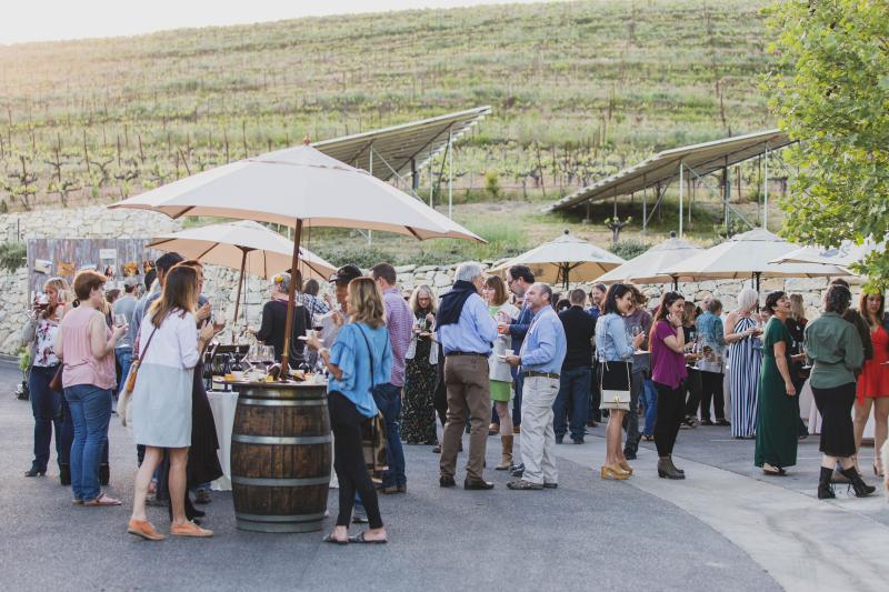 Tablas Creek 30th Anniversary Party - Food and Solar Panels