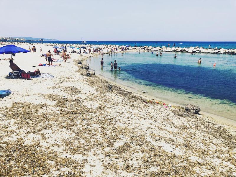 The beach in Trapani