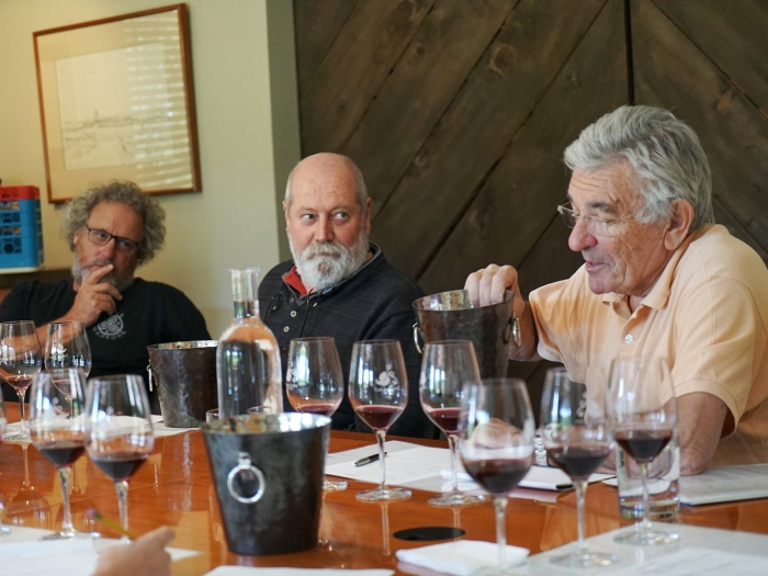 Blending Table with Claude and Jean-Pierre