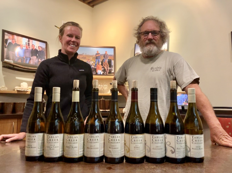 Neil and Chelsea with Fall 2019 VINsider wines