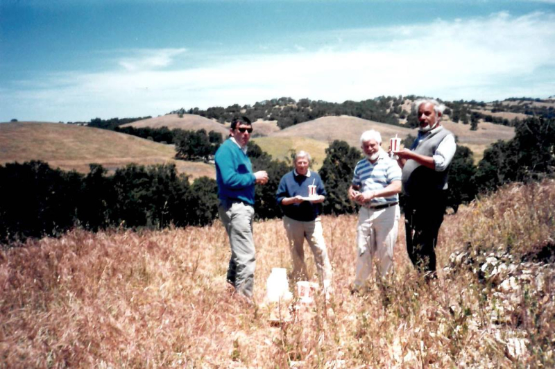 KFC Lunch on Scruffy Hill in 1989 with Jean-Pierre Perrin  Robert Haas  Charlie Falk  and M Portet