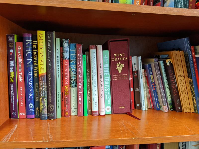 Bookshelf at Tablas Creek