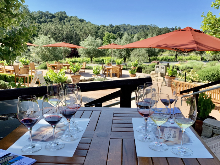Outdoor tasting - tables