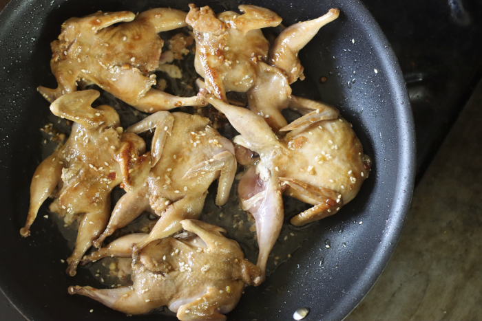 Cooking quails