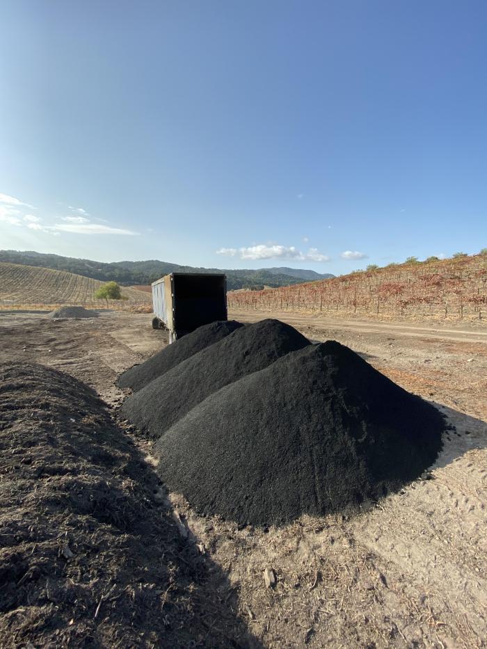 Biochar - piles