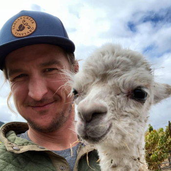 Jordy with Alpaca