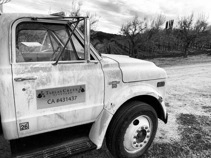 Meghan - Vineyard Truck B&W