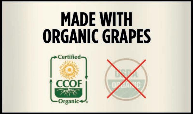 CCOF Made with Organic Grapes