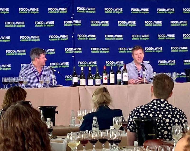 Jason Haas and Ray Isle at Aspen Food & Wine 2021