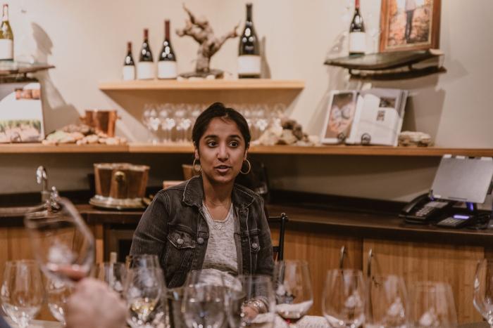 Rumyn Purewal in the tasting room
