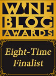 Wine Blog Awards Eight-Time Finalist