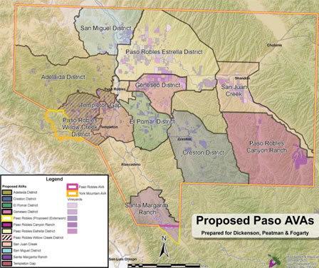 Paso Robles AVA Map (Proposed)