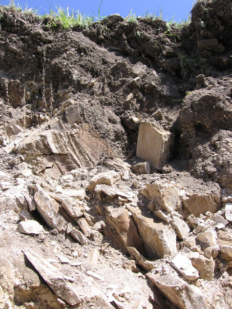 Limestone_in_irrigation_trench