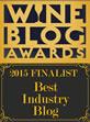 2015 Wine Blog Awards 'Best Industry Blog' Finalist